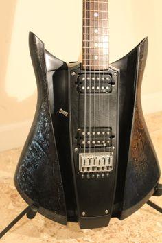 RKS WAVE Electric Guitar Custom Paint Skull Finish. JA