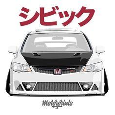 Jdm Logo, Honda Brio, Jdm Wallpaper, Japanese Domestic Market, Civic Sedan, Honda Jazz, Honda Civic Type R, Japan Cars, Car Drawings