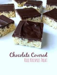 Chocolate Covered Rice Krispy Treat - This is a treat you can't turn down.   These chocolate covered rice krispies are absolutely delightful and a fun, easy to make, treat for everyone.