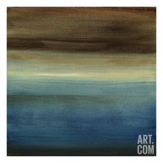 Abstract Horizon III Stretched Canvas Print by Ethan Harper at Art.com