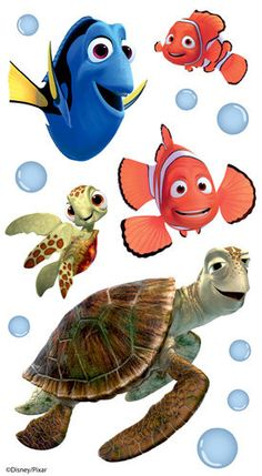 Finding Nemo Dimensional Stickers with Epoxy and Varnish Accents