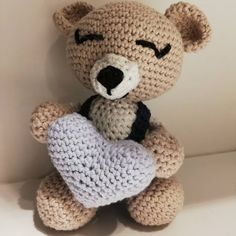"Janne Nesland on Instagram: ""Idag ble det en bamse til lille prinsen😍 #hekledilla #hekle #crochet #virka #bamse #diy #håndarbeid #heklethjerte #hekling #babygave…"" Hello Kitty, Teddy Bear, Toys, Baby, Animals, Fictional Characters, Activity Toys, Animales, Animaux"