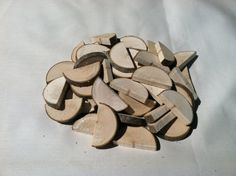 Maple half wood slices by LightofdayCreations on Etsy