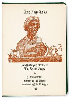 (Art.) Brewer, John Mason. la Tía inciertas Cuentos. tabaco inmersión Cuentos De T... Lote 151   eBay