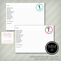 I had a calendar for Em and I liked that and kept up with it... but maybe this? I kind of like this idea...   Baby Month Cards - Record your Baby's Milestones