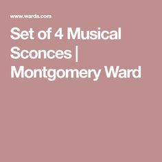 Set of 4 Musical Sconces | Montgomery Ward