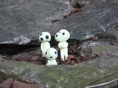 Kodama family - glow in the dark Fimo clay