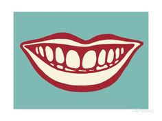 Smiling Mouth Print by Pop Ink - CSA Images at AllPosters.com