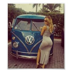 Hot Girl's and Cool Rides Poster | Zazzle.com Bus Girl, Fitness Photoshoot, Chloe Grace Moretz, Mini Shorts, Custom Posters, Girls Shopping, Party Hats, Strapless Dress Formal, Shopping