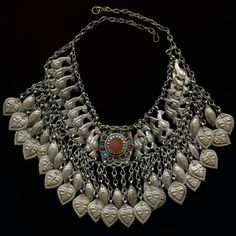 Old Afghan Pashtun silver necklace or headdress