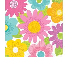 Spring Fling Lunch Napkins 16ct - Party City