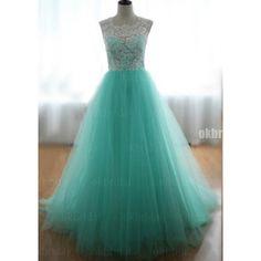 lace long prom dress, mint green prom dress