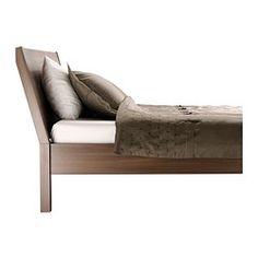 NYVOLL Rám postele - strednehnedá, 160x200 cm - IKEA