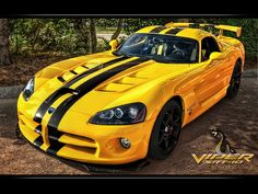 Dodge Viper SRT-10 Yellow Poster