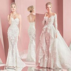 Image result for detachable train wedding dress