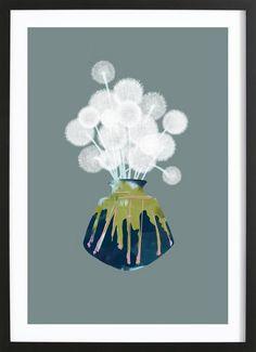 Dandelions als Gerahmtes Poster von Babeth Lafon   JUNIQE