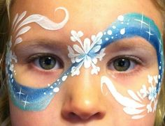 Wintery mask face painting. | Frozen Birthday Party | Pinterest