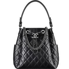 Drawstring bag ❤ liked on Polyvore featuring bags, handbags, handbag purse, lambskin leather handbags, lambskin purse, piel leather and hand bags
