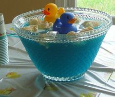 we are already doing this! blue punch made to look like rubber duckies floating in a bathtub!