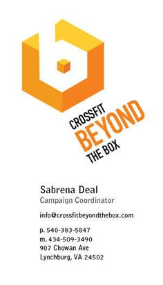 CrossFit Beyond The Box Identity by Sabrena Deal, via Behance