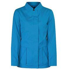JIL SANDER $1830 teal blue cotton Chrysler coat vented back jacket 36-F/4 NEW