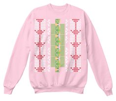 Tipsy Elves Ugly Christmas Sweater Pale Pink  T-Shirt Front