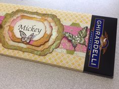 Candy Bar Wrapper, Chocolate: Ghiradelli, Butterfly stamp and punch by Stampin'Up! - Spellbinder Dies and Paper by