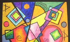 "some lesson plans and ""Small Budget Hints"" at the bottom - Kandinsky Style Kandinsky Art, 7th Grade Art, Arte Fashion, Ecole Art, Math Art, School Art Projects, Kindergarten Art, Art Lessons Elementary, Arte Popular"