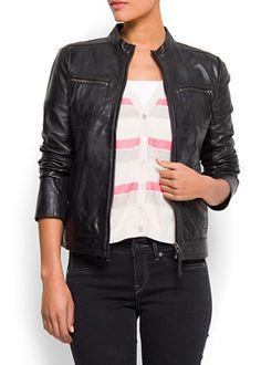 Mango Leather Jacket, $170
