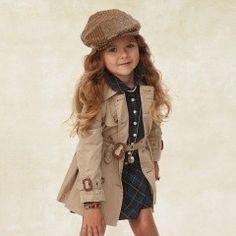 pleated trench coat- ralph lauren for kids