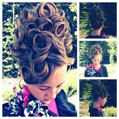 Fancy pin curl hairstyle! #Apostolichair #Churchcamp