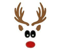 Boy Reindeer Embroidery Design Santa Embroidery