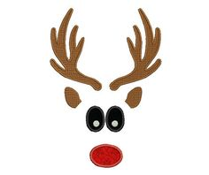 Boy Reindeer Embroidery Design Santa Embroidery