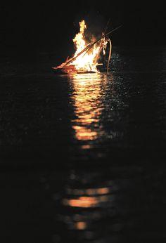 Gabe Aucott: floating bonfires