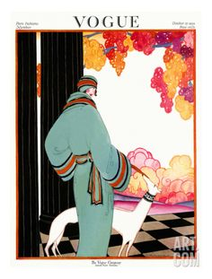 Vogue Cover - October 1922 Premium Giclee Print by Helen Dryden at Art.com