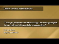 Legal-Ease International Inc gives training Seminars around the world to Foreign Lawyers in Legal English. Lets see what the lawyers are saying! Lawyers, Online Courses, Knowledge, Videos, Lawyer, Video Clip, Facts