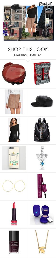 """Zip Up Suede Skirt - Romwe (contest  )"" by naomig-dix ❤ liked on Polyvore featuring Old Spice, Bling Jewelry, Alex and Ani, Nemesis and LogoArt"
