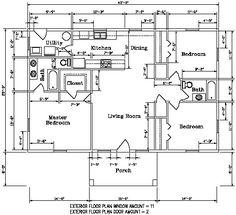 Floor plan for the Kodiak Steel Homes Southridge 2: 1,740 Square ...