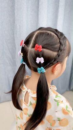 Easy Toddler Hairstyles, Cute Girls Hairstyles, Braided Hairstyles Tutorials, Anna Hair, Girl Hair Dos, Braids For Kids, Hair Videos, Hair Highlights, Hair Beauty
