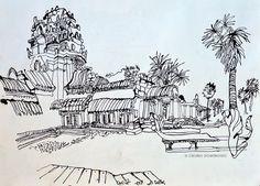 Temples of Angkor Wat, Cambodia. | Urban Sketchers