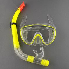 Swimming Gear Scuba Anti-Fog Goggles Mask Dive Under water Diving Glasses Submersible w/ Dry Snorkel Set 3 Colors High quality