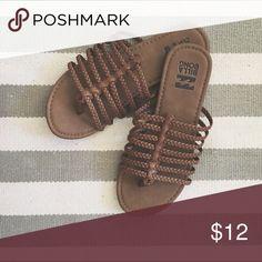 Billabong Sandals Never worn light brown camel colored stewpot flip flop sandals. Billabong Shoes Sandals