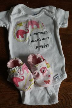 Gay Lesbian Mommies Baby GIrl Cotton Onesie by BulaJeansBoutique, $18.00- love this. Even though we are having a boy. Maybe next time ;)