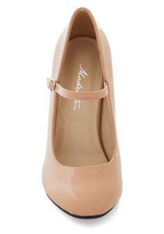 Patent Office Heel in Blush | Mod Retro Vintage Heels | ModCloth.com