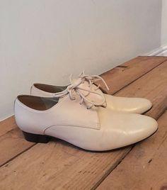 65fae88fb53 Uk size 4 womens clarks cream leather lace up shoes bodkin bay bone