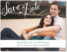 Save the Date Postcards Sophisticated Hand