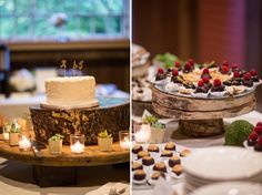 Rustic Dessert Bar for a barn wedding at Quonquont Farms © Sandra Costello 2015