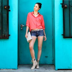 Check out Poppy Coral Blouse Look by TCEC, Sneak Peak, and Bonnibel at DailyLook