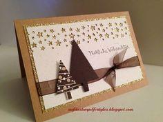 Auf die Stempel, fertig, los!: Last Minute Weihnachtskarte