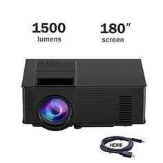 """in the picture:Video Projector, Dihome 1500 Lumens Portable 180"""" Screen LED Projector 1080P Home Cinema Theater Projection Machine with USB HDMI AV Support PC Laptop XBOX TV Box Smart phone-Black lots of color options – get more info:https://www.amazon.com/dp/B073JCCF7R    Other internet sites ..."""
